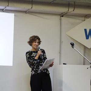 viering 20 jaar vereniging Wok: sfeerbeelden: speech coördinator