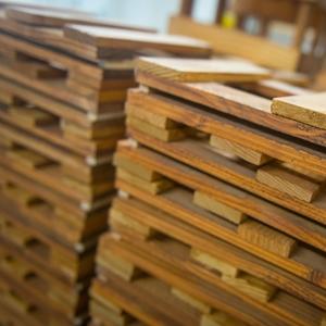 voorstelling van houten planken